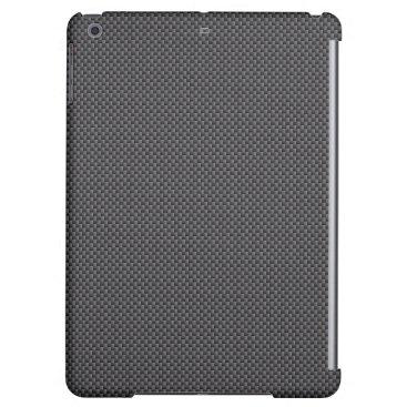 McTiffany Tiffany Aqua Black and Grey Carbon Fiber Polymer iPad Air Cover