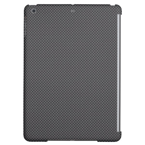 Black and Grey Carbon Fiber Polymer iPad Air Cover