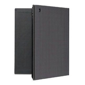 Black and Grey Carbon Fiber Polymer iPad Cover