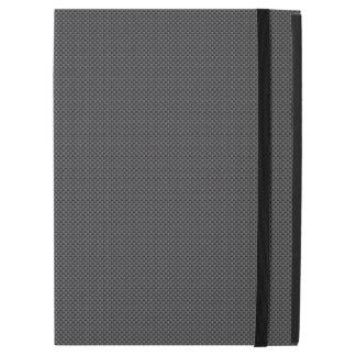 Black and Grey Carbon Fiber Polymer iPad Pro Case