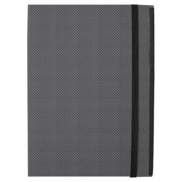 Beach Themed Black and Grey Carbon Fiber Polymer iPad Pro Case