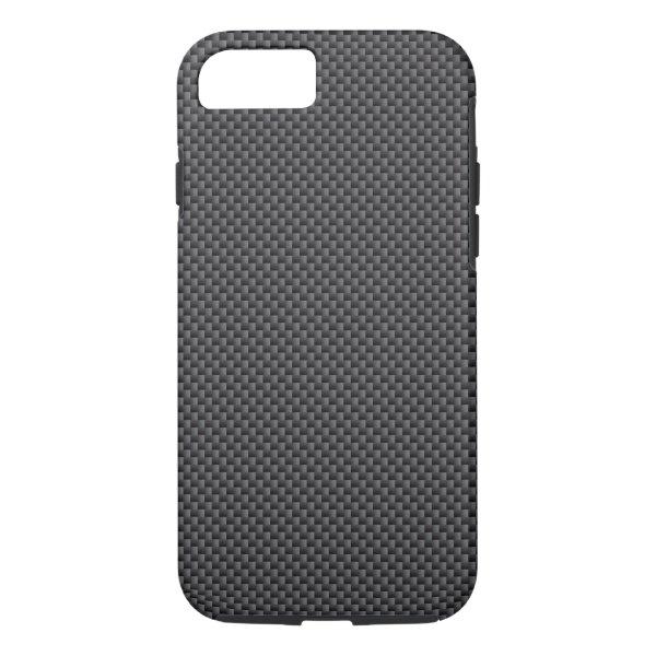 Black and Grey Carbon Fiber Polymer iPhone 7 Case