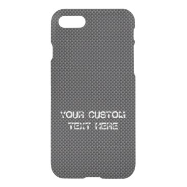 Beach Themed Black and Grey Carbon Fiber Polymer iPhone 7 Case