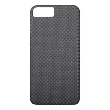 Beach Themed Black and Grey Carbon Fiber Polymer iPhone 7 Plus Case