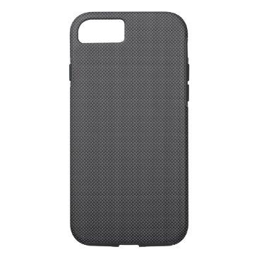 McTiffany Tiffany Aqua Black and Grey Carbon Fiber Polymer iPhone 8/7 Case