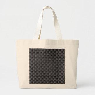 Black and Grey Carbon Fiber Polymer Large Tote Bag