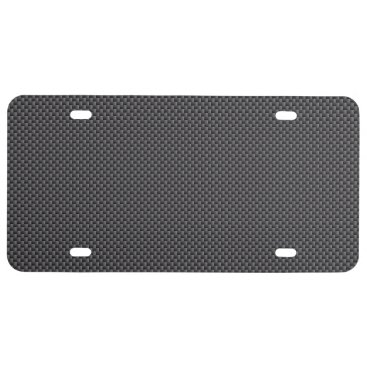 Halloween Themed Black and Grey Carbon Fiber Polymer License Plate