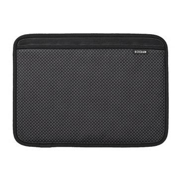Beach Themed Black and Grey Carbon Fiber Polymer MacBook Air Sleeve