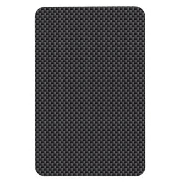 Beach Themed Black and Grey Carbon Fiber Polymer Magnet