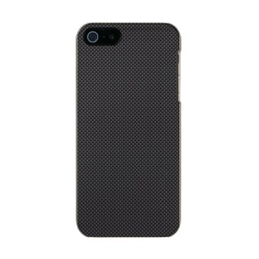 Beach Themed Black and Grey Carbon Fiber Polymer Metallic Phone Case For iPhone SE/5/5s