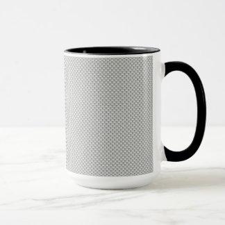 Black and Grey Carbon Fiber Polymer Mug