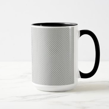 Halloween Themed Black and Grey Carbon Fiber Polymer Mug