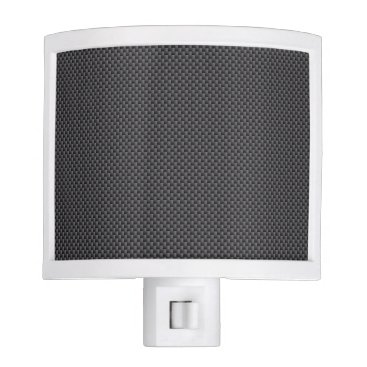 Beach Themed Black and Grey Carbon Fiber Polymer Night Light