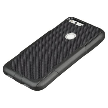 Aztec Themed Black and Grey Carbon Fiber Polymer OtterBox Commuter Google Pixel XL Case