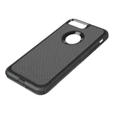 McTiffany Tiffany Aqua Black and Grey Carbon Fiber Polymer OtterBox Commuter iPhone 8 Plus/7 Plus Case