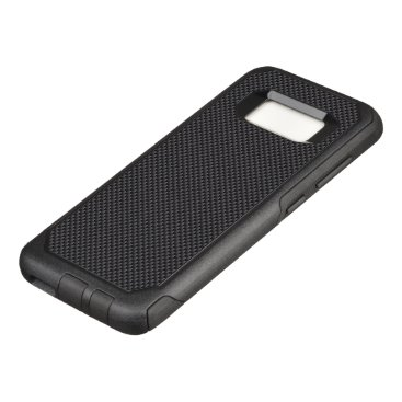 Aztec Themed Black and Grey Carbon Fiber Polymer OtterBox Commuter Samsung Galaxy S8 Case