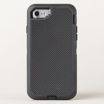 Beach Themed Black and Grey Carbon Fiber Polymer OtterBox Defender iPhone 7 Case