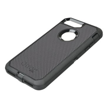 Disney Themed Black and Grey Carbon Fiber Polymer OtterBox Defender iPhone 7 Plus Case