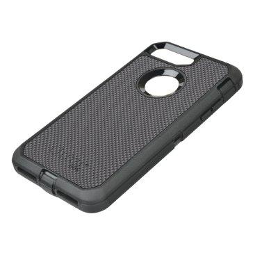 McTiffany Tiffany Aqua Black and Grey Carbon Fiber Polymer OtterBox Defender iPhone 8 Plus/7 Plus Case