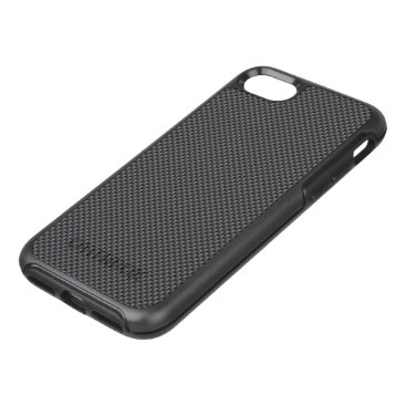 McTiffany Tiffany Aqua Black and Grey Carbon Fiber Polymer OtterBox Symmetry iPhone 8/7 Case