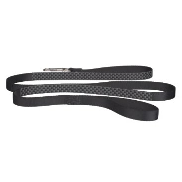 Beach Themed Black and Grey Carbon Fiber Polymer Pet Lead