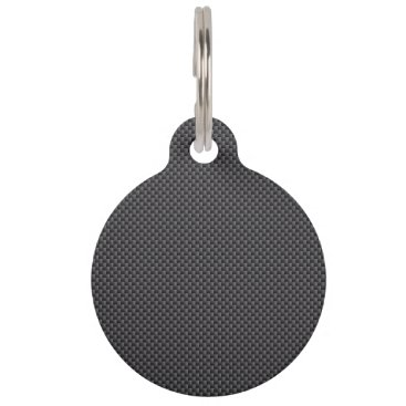 Beach Themed Black and Grey Carbon Fiber Polymer Pet Tag