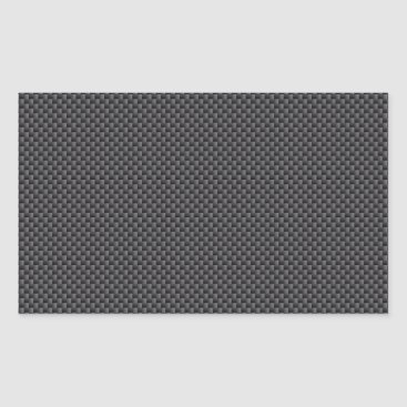 Beach Themed Black and Grey Carbon Fiber Polymer Rectangular Sticker