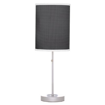 Beach Themed Black and Grey Carbon Fiber Polymer Table Lamp