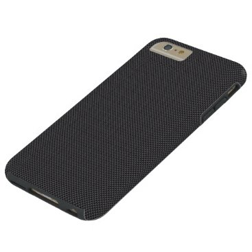 Beach Themed Black and Grey Carbon Fiber Polymer Tough iPhone 6 Plus Case