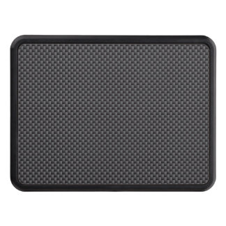 Black and Grey Carbon Fiber Polymer Trailer Hitch Cover