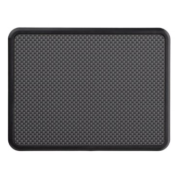 Christmas Themed Black and Grey Carbon Fiber Polymer Trailer Hitch Cover