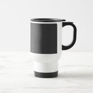 Black and Grey Carbon Fiber Polymer Travel Mug