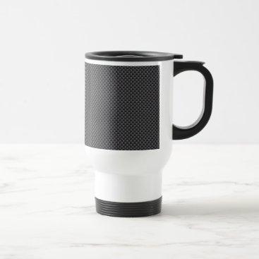 Christmas Themed Black and Grey Carbon Fiber Polymer Travel Mug