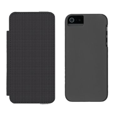 Beach Themed Black and Grey Carbon Fiber Polymer Wallet Case For iPhone SE/5/5s