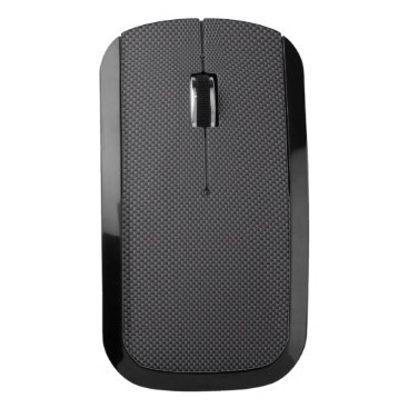 Aztec Themed Black and Grey Carbon Fiber Polymer Wireless Mouse