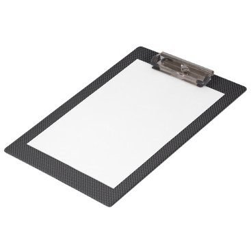 Beach Themed Black and Grey Carbon Fiber With White insert Clipboard