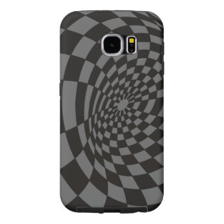 Black and Grey Checkered Tunnel Samsung Galaxy S6 Cases