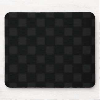 Black and grey chequered pattern mouse pad