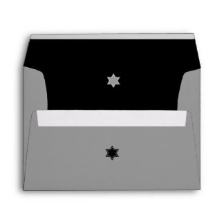 Black and Grey Color Block Bar Mitzvah Envelope