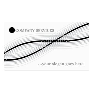 Black and grey crossed curved lines and circle business card template
