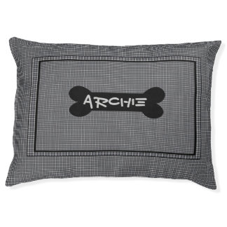Black And Grey Custom Indoor Dog Bed - Large Large Dog Bed