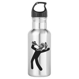 Black and Grey Drunken Knight Water Bottle