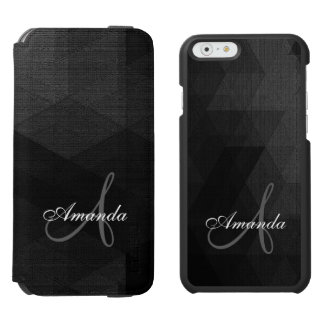 Black and Grey Geometric Pattern iPhone 6/6s Wallet Case
