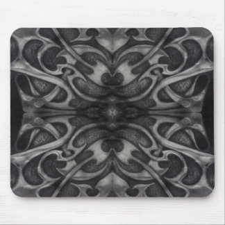 Black and grey heavy metal design mouse pad