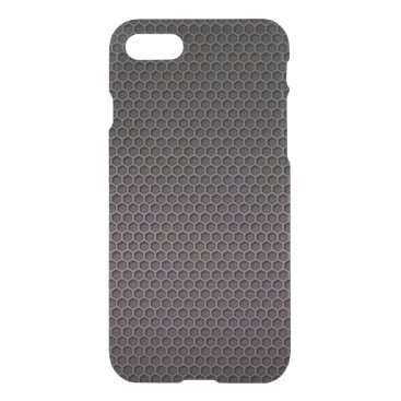 Aztec Themed Black and Grey Hexagonal Carbon Fiber Polymer iPhone 7 Case