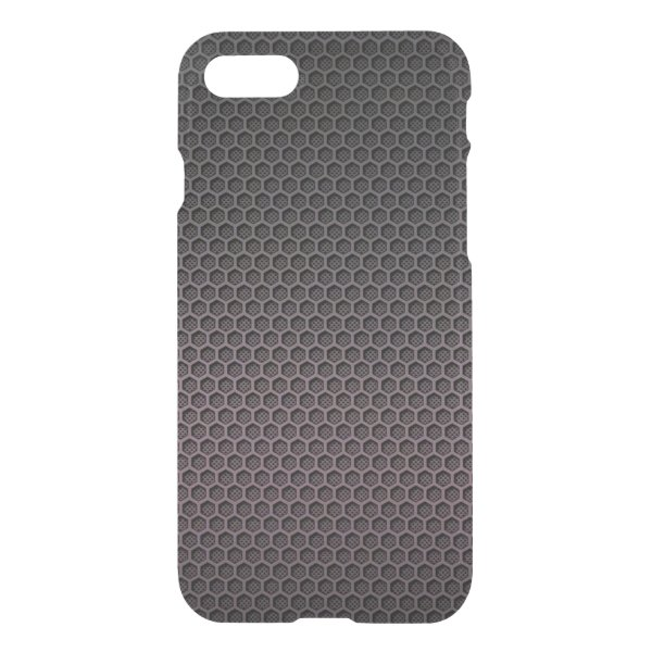 Black and Grey Hexagonal Carbon Fiber Polymer iPhone 7 Case