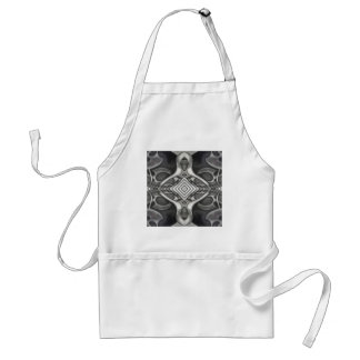 black and grey metal design gothic look adult apron