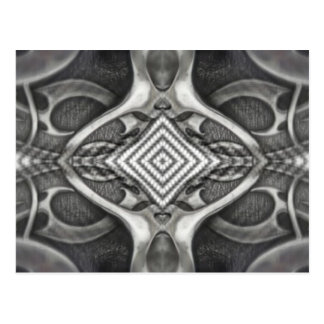 black and grey metal design gothic look postcard