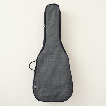 Beach Themed Black and Grey Micro Carbon Fiber Graphite Guitar Case