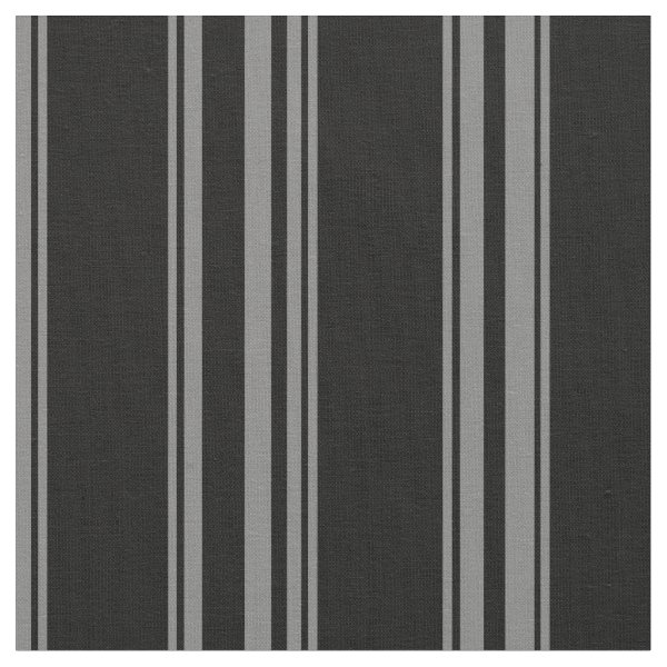 Black and grey pinstriped fabric